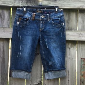 Candie's Distressed Jean Shorts Size 7